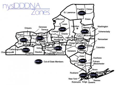 NYSIDDDNA Zone Map